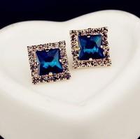 Fashion Europe Shiny Rhinestone Earrings Jewelry R3864
