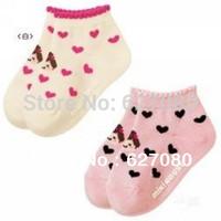 (Heart-shaped socks) new cartoon princess jacquard non-slip socks baby socks