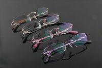 8012 RIMLESS WOMEN'S CUT DIAMOND OPTICAL EYEGLASSES EYE GLASS EYEWEAR CRYSTAL LENS METAL FRAME 2014 NEW ARRIVAL FASHION GLASSES