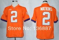 2014 New Style,Clemson Tigers #2 Sammy Watkins,Free Shipping,College Football Limited Jerseys,Embroidery logo,Mix Order Jersey