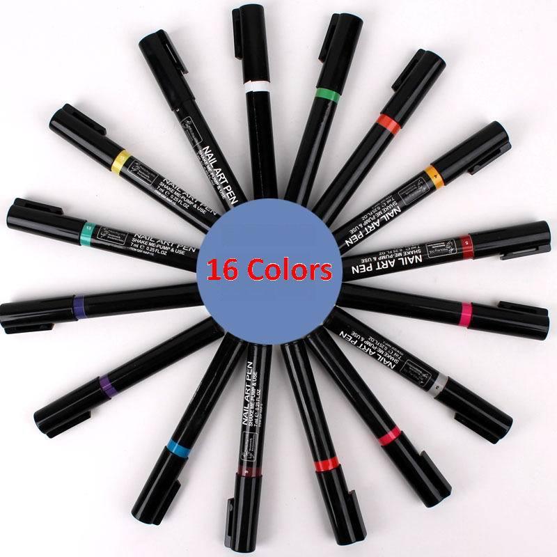 16 Farben nailart stift malerei Design-Tool zeichnung gel diy dekoration #8801