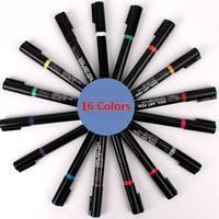 16 colors Nail Art Pen Painting Design Tool Nail Polish Drawing Gel DIY Decoration Nail Tools GZ001-16PCS