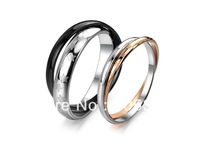 A Pair Lover Rings Wedding Rings Set 316L Stainless Steel Double Interlocking Rolling Bands Carved Star Women Rose Gold Jewelry