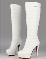 ENMAYER New Hot 2015 fashion  sexy high heels boots round thin heels knee high women boots brand,retail