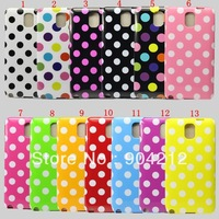 13 styles Polka Dot  plastic hard back cover Case For Samsung Galaxy note 3 N9000, wholesale 50pcs/lot