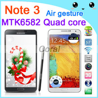 Air Gesture Eye control Galaxy Note 3 Phone Dual USB Connector Android 4.3 1GB RAM Dual Camera GPS 3G N9000 phone