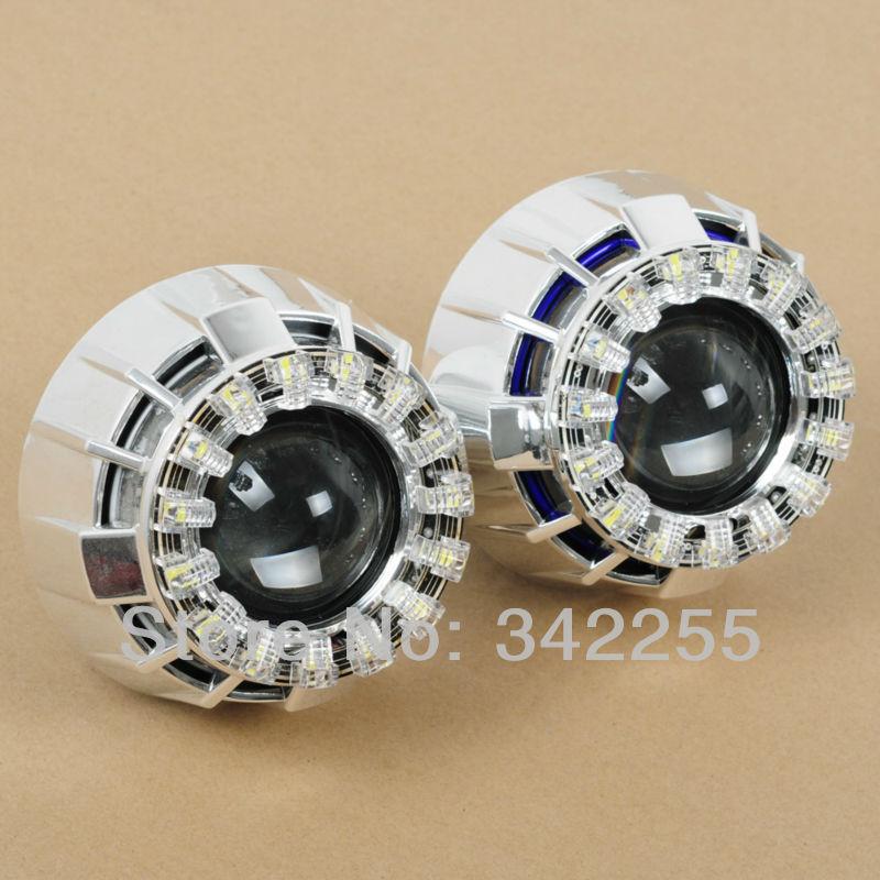 LED Halo Angel Eye HID Projector Lens Kit, Bi Xenon HID Projector lens(China (Mainland))