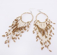(Min order$8)free shipping!Wholesale 2013 new fashion jewelry Bohemia comb women bead jewelry Earrings Bijoux,Wholesale Jewelry