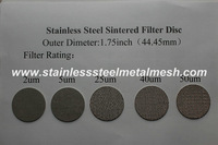 Stainless Steel Sintered Filter Disc(2um 5um 25um 40 um 50um)