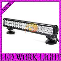 Free DHL Shiping 2pcs 8600LUM 18inch 108W LED Light bar cree LED Work Light Bar Offroad Truck SUV 4WD ATV 4X4 LED Driving Light