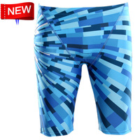 hotsale Sharkskin,water proof,chlorine resistant men's competition swimming personality swim trunks Jammers shorts men swimwear