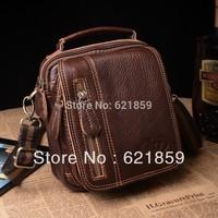 Multipurpose pockets Men Women leather shoulder bag leather man bag diagonal mobile packet