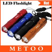 High quality LED Flash Light 450 Lumen 1 xCREE Q5 LED Flashlight Torch Lamp Lantern 4 colors