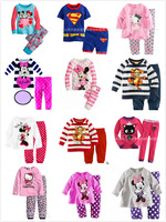 Children Girl's Pyjamas Baby long sleeves sleepwear Baby pajamas Children Pyjamas Children Sleepwear X-032