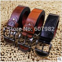 Men Belts Brands 2014 Casual Cowskin PU Leather Belt Man Ceinture Size 115cm*3.8cm High Quality Male Belt Buckle Belts For Mens