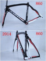 New carbon bike frame 2014 Dogma 65.1 Think2 860 Full Carbon Road Bike bicycle frame+fork+seatpost+headset+clamp