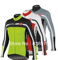 8 styles Hot!! 2013 Castelli Winter Thermal Fleece Cycling Jersey bicicleta Long Sleeve clothing set / ropa ciclismo maillot !!