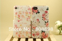 Free shipping 1pcs 100% Original flower Case For phone 4 4s 5 New Advance Arrivel mobile phone case