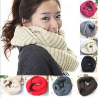 Min Order $5 (Mix Order) 2013 Winter Necessary 10 Colors Collar Scarf Knitted Shawl Knitted Scarf Free Shipping