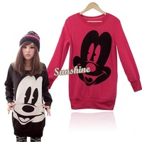 Spring Autumn New Arrival Women Hoodies Coat Cartoon Plus Size Round Neck Sweatshirt 18247