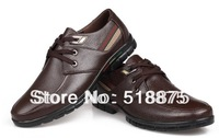 Free shipping 2013 new arrival authentic  mans leather shoes for size 38-44