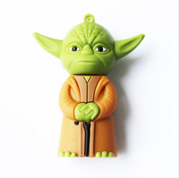 Free shipping Retail real 4GB 8GB 16GB 32GB star war Yoda warrior model USB Flash Drive thumb Pen drive memory sticks disk