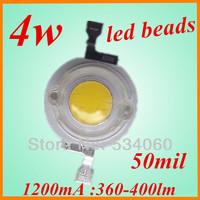 wholesale 10pcs/lot 3w high power white LED lamp beads 230-250lm bridgelux the aquarium 3w led grow light for diy   free shiping