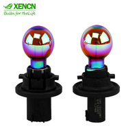 XENCN 12188Y 12V PSY24W PG20-4 Rainbow Car Light Bulbs Replace Upgrade Germany Quality Fog Halogen Lamp Free Shipping 2pcs