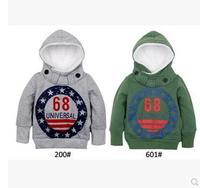 1pc/lot boys  child winter british style sweatshirt child baby thickening berber fleece hoodie sweater