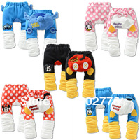 Fashion! Baby clothing baby PP pants cartoon polar fleece thicken five color optional winter TZD-K0012