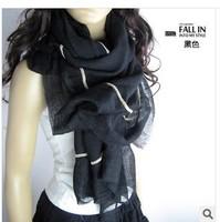 The new South Korean original pure color cotton oversized scarf multicolor scarves wholesale irregular edges