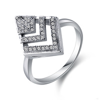 Wholesale & Retail New Fashion Jewelry Cubic Zirconia Sterling Silver 925 Wedding Band Rings Luxury US Size 6 7 8 9 10