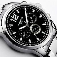 Original eyki Male small 3 needle Quartz watches fashion Luxury Dress watch waterproof Stainless Steel mens wristwatches clocks
