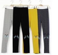 Stereoscopic Cat  Ear Embroidery 3D ear Skinny Leggings Women Autumn  Pants   8 COLORS