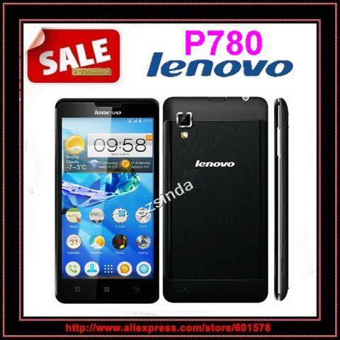 Lenovo originale p780 mtk6589 quad core cellulare 5.0'' Gorilla Glass 8mp 1gb ram Android 4.2 dual sim multi lingua