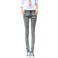 [TC]  Women Jeans pencil pants new 2013 plus velvet thickening fashion jeans slim skinny jeans