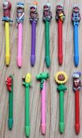 Free shipping 12pcs/set  wholesale school supplies Pen cartoon Zombie design colorful Plants ball pen spider-man pen
