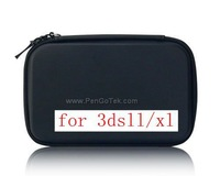 Free shipping Wholesale For 3DS LL/XL Hard / Airform Pouch EVA Bag Carry Pouch Case(Red,Blue,Black,Silver)
