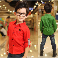 Fashion children's long sleeve shirt for boy spring and autumn wholesale and retail with free shipping