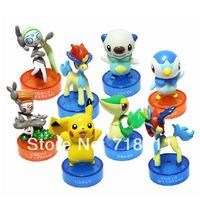 4cm-6cm Pokemon Action Figures PVC Toys 8pcs/lot