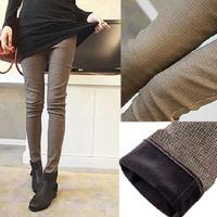 2014 new plus velvet thickening leggings plus size boot skinny pants woman pencil pants women winter autumn female trousers 9516
