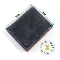 Man Short Paragraph Leather Wallet High Quality Purse Fashion Card Holder Free Shipping