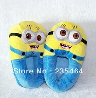 "11"" 3D Despicable Me Minion Stewart Figure Shoes Plush Toy Slipper One Size Doll Free shipping"