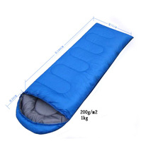 Outdoor products outdoor camping sleeping bag summer camping sleeping bag 200g envelope hooded sleeping bag