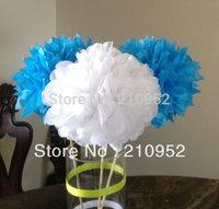 Free Shipping 15pcs mixed 3 sizes(10cm,15cm,25cm)Tissue Paper Pom Poms Wedding Party Decor Craft Festival decoration Wholesale