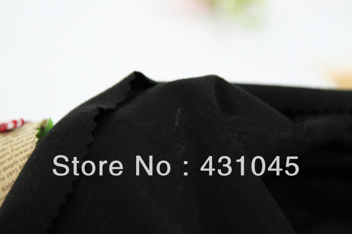 DHL Free Shipping! Black 21S T/C Eco-Friendly Dyed Jersey Knitted Fabric, 65% Polyester 35% Cotton, 213g/m2, 155cm, LY1209(China (Mainland))