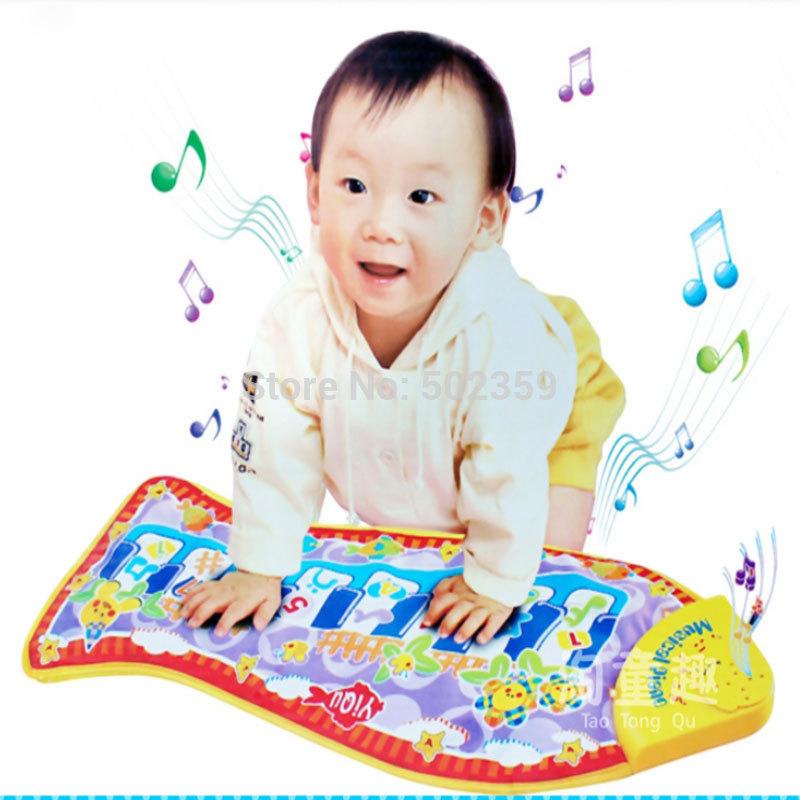 free shipping fish piano music game carpet Fashion Children's Educational Toys fish Music crawling mat baby toys blanket WJ-0001(China (Mainland))
