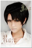 Cosplay Shingeki no Kyojin / Attack on Titan Levi Rivaille 25cm Short Black Boy Wigs Anime wigs costume