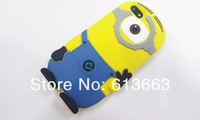 2013 New Arrivals cute 3D Despicable Me Minions case silicon back cover for iphone 5g 5S,10pcs/lot,free shipping