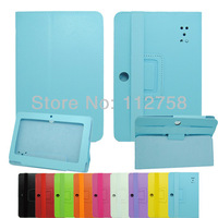 "New  Leather Flip Case Cover Folio Case stand for Allwinner Q88 7"" inch A13 Android 4.0 Tablet PC E85"